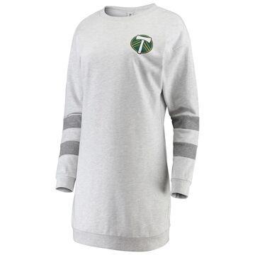 Women's ZooZatz Gray Portland Timbers Sweatshirt Dress