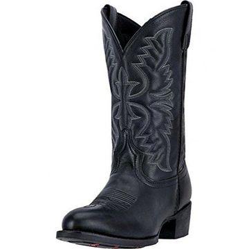 Laredo Mens Birchwood Western Boot, Adult, Black