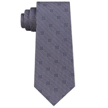 Sean John NavyBlue Silver Men's One Size Hidden Dot Silk Neck Tie