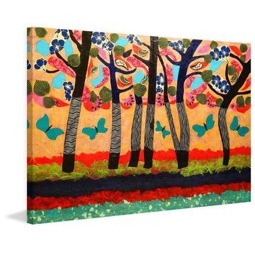 Marmont Hill - Handmade Dancing Butteries Painting Print on Canvas