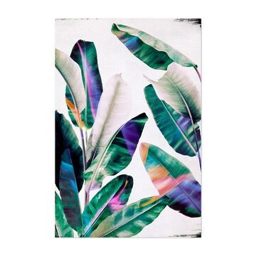 Noir Gallery Abstract Tropical Floral Leaves Unframed Art Print/Poster