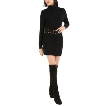Bar Iii Belted Sweater Dress, Created For Macy's