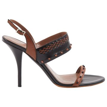 Tabitha Simmons Black Leather Sandals