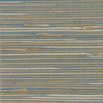 Kenneth James Jissai Mariner Blue Grasscloth Wallpaper