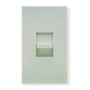 LUTRON NF-10-WH Lighting Dimmer,Slide,Fluorescent,1-Pole