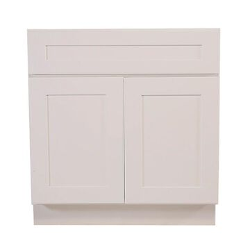 Design House Brookings Ready to Assemble 48 x 34.5 x 24 in. Base Cabinet Style 2-Door Sink in White