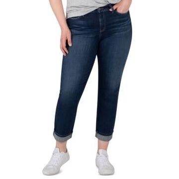Silver Jeans Co. Plus Size Avery Cropped Straight Jeans