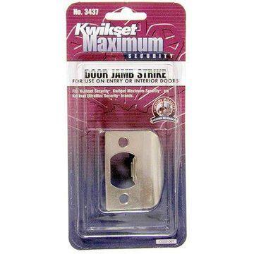 Kwikset 83437-039 Satin Chrome Standard Lockset Strikes