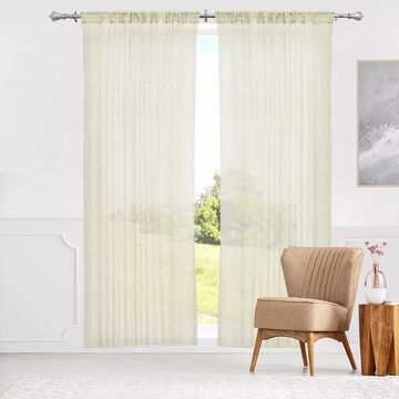 Chicology 2-pack Window Curtains, White, 52X84