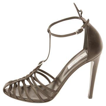 Altuzarra Black Leather Sandals