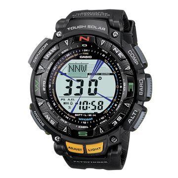 Casio Mens Digital Black Strap Watch-Pag240-1cr