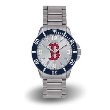 Sparo Boston Red Sox Silver Personalized Key Bracelet Quartz Watch