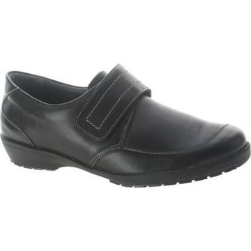 Women's Spring Step Darby Black Leather