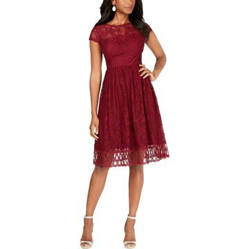 Kensie Womens Lace Fit & Flare Cocktail Dress