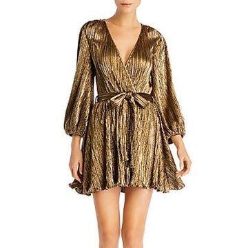 Bardot Bellissa Metallic Plisse Dress