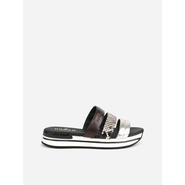 Hogan H222 Leather Sandals