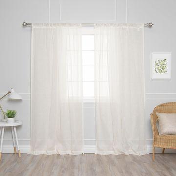 Aurora Home Diamant Border Curtain Panel Pair
