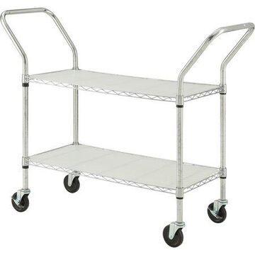 Lorell Light Duty Mobile Cart, Chrome