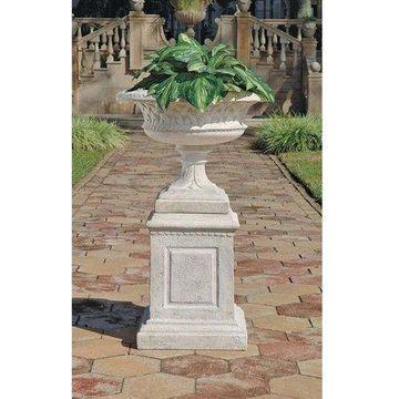 Design Toscano Larkin Arts and Crafts Architectural Garden Urn & Plinth Set
