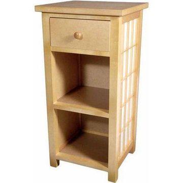 Oriental Furniture Shoji End Table with Shelves