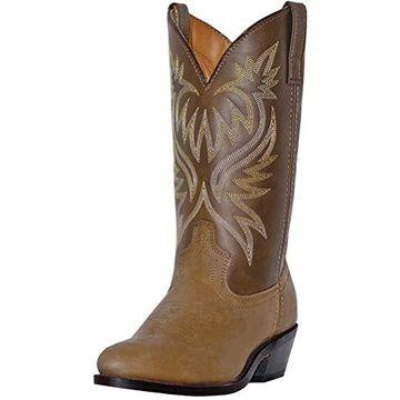 Laredo Men's London Rnd Toe 12in Leather Western Styling Boots, 10.5EE - Tan