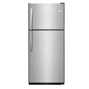 Frigidaire 20.4-cu ft Top-Freezer Refrigerator (EasyCare Stainless Steel)   LFTR2021TF