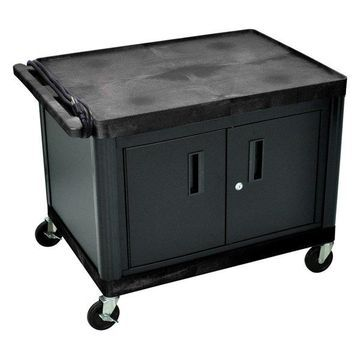 Luxor AV Cart With Locking Cabinet, 27
