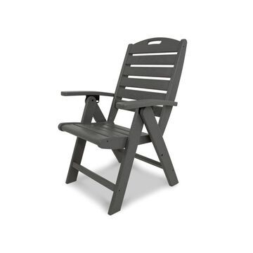 Trex Outdoor Furniture Yacht Club Plastic Dining Chair with Slat
