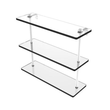 Allied Brass Matte White Brass Bathroom Shelf