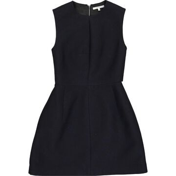 Carven Navy Wool Dresses