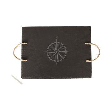 Slate Compass Serving Board