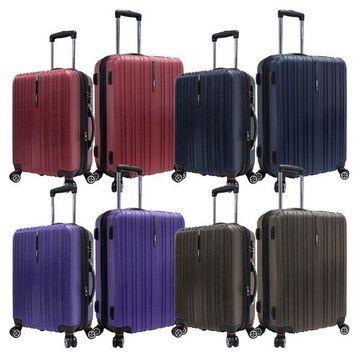 Traveler's Choice Tasmania Polycarbonate 2-piece Expandable 8-wheel Spinner Luggage Set