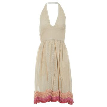 Manoush Ecru Cotton Dresses