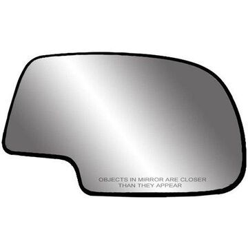 80058 - Fit System 99-06 Replacement Mirror Glass with backing plate for Cadillac Escalade/ Chevrolet Silverado and Suburban / GMC Tahoe and Yukon, Driver Side - check description for fitment
