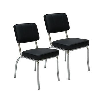 Porthos Home Indoor Chairs Black - Black Side Chair - Set of Two