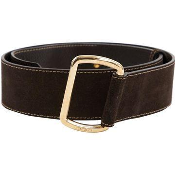 Loro Piana Black Suede Belts