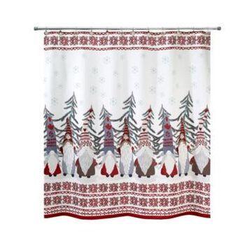 "Avanti Christmas Gnomes 72"" x 72"" Shower Curtain Bedding"