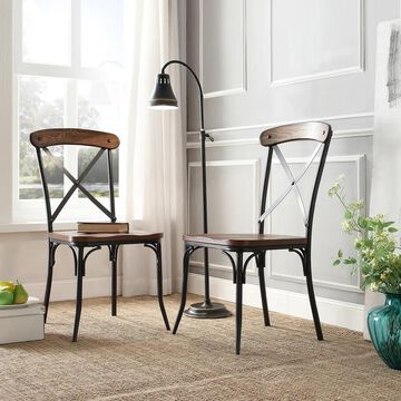 Nelson X-Cross Back Dining Chair by iNSPIRE Q Classic (Set of 2) - Set of 2 (Brown)