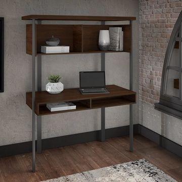 Bush Furniture Architect Small Computer Desk with Hutch