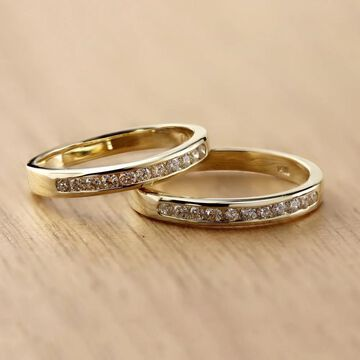 Auriya 14k Gold 1/4ctw Round Diamond Wedding Band (Yellow - 9.5)