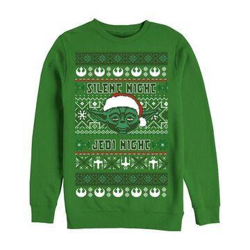 Fifth Sun Men's Sweatshirts and Hoodies KELLY - Kelly Green Star Wars Yoda Sweater - Men