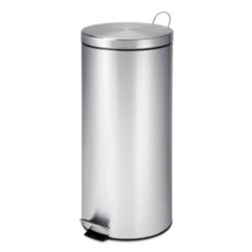 Honey Can Do 30L Round Stainless Steel Trash Can