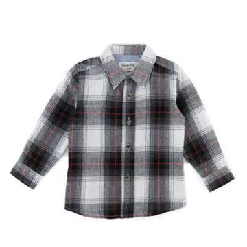 Sovereign Code Size 12-18M Plaid Shirt in Black/Red