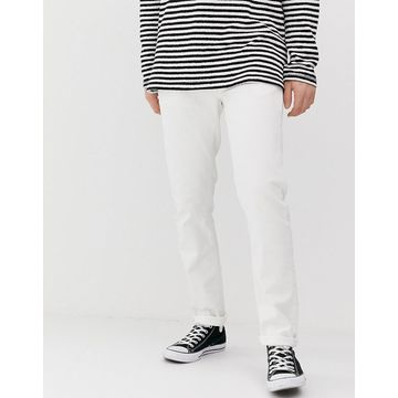 Nudie Jeans Co Lean Dean slim tapered fit jeans in ecru white