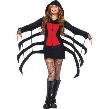 Leg Avenue Women's Widow Cozy, Black/Red, Small