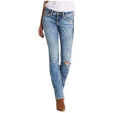 Silver Jeans Co. Suki Mid-Rise Curvy Fit Slim Bootcut Jeans L93616SSX289 (Indigo) Women's Jeans