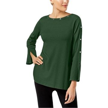 Alfani Womens Embellished Pullover Sweater