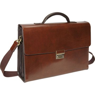 AmeriLeather Two-Tone Efficiency Laptop Briefcase