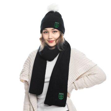 Austin FC ZooZatz Fuzzy Cuffed Pom Knit Hat and Scarf Set