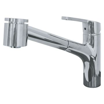 Franke Sion Stain Nickel 1-Handle Pull-out Kitchen Faucet